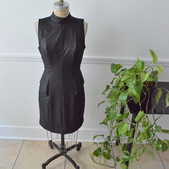 Guess Dresses & Skirts - Guess Brand New Faux-leather black Cocktail dress